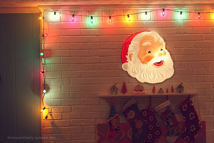 want a lighted santa, yes I do!