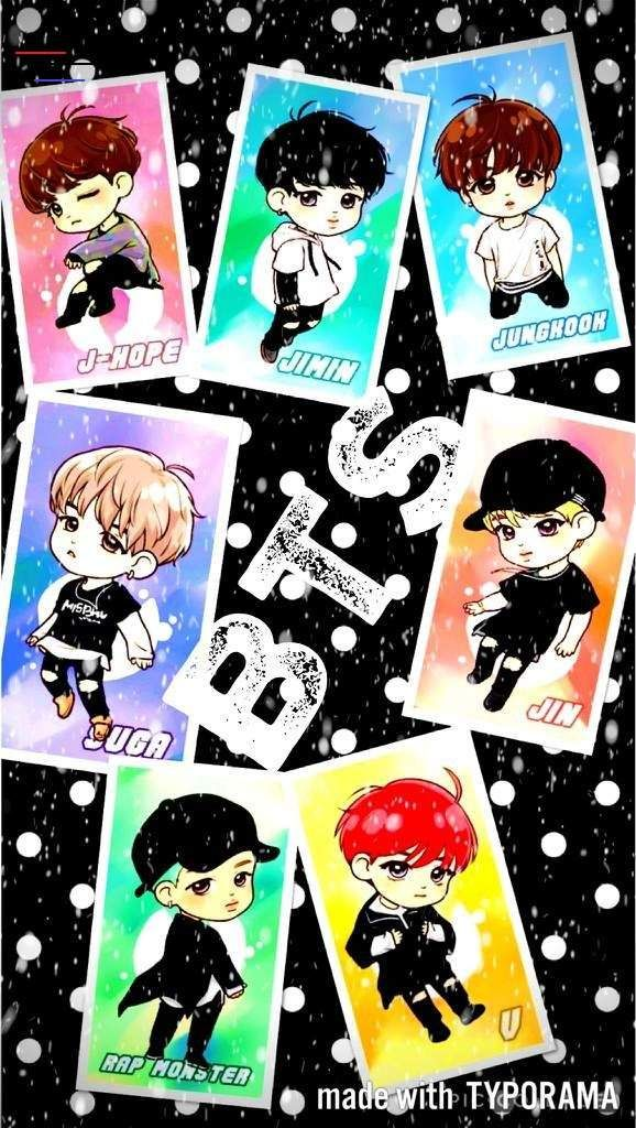 Download Bts Chibi Wallpaper Cartoon And Search More Hd Desktop And Mobile Wallpapers On Itl Cat Br In 2020