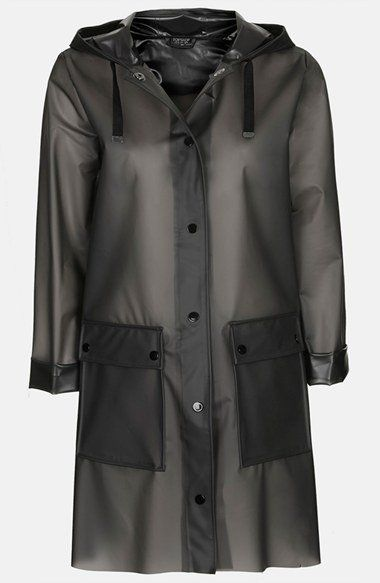 Brit pop in. Topshop frosted raincoat