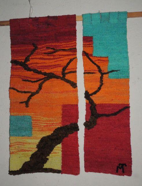 """telares """"Sapikuna """": árbol en relieve...(en dos paños)"""
