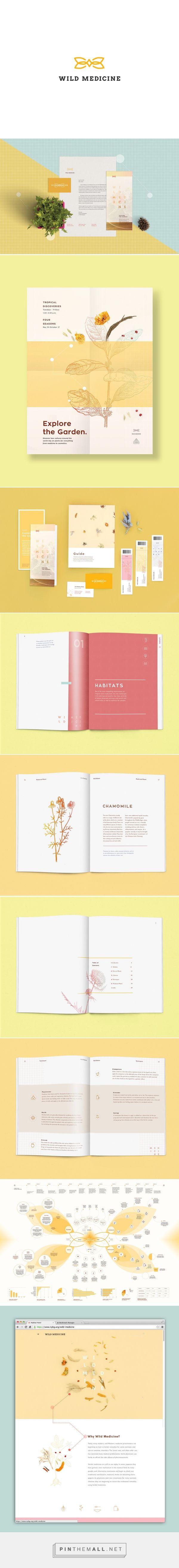 Wild Medicine por #Grace #Kuk en #Behance.  #marca #brand #branding #diseño #design #gráfico #graphic #inspiración #inspiration #creatividad #creativity #portfolio #tipografía #typography #logo #logotype #editorial #wild #medicine #mockup