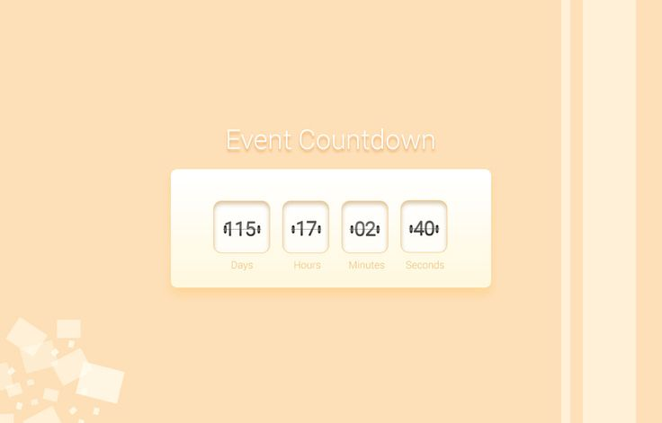 Watch out the amazing event countdown for your personal use. - GrfxPro.com