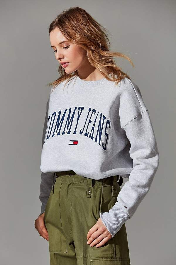 3011d5a3 Tommy Jeans Collegiate Crew-Neck Sweatshirt | Tommy Hilfiger in 2019 ...