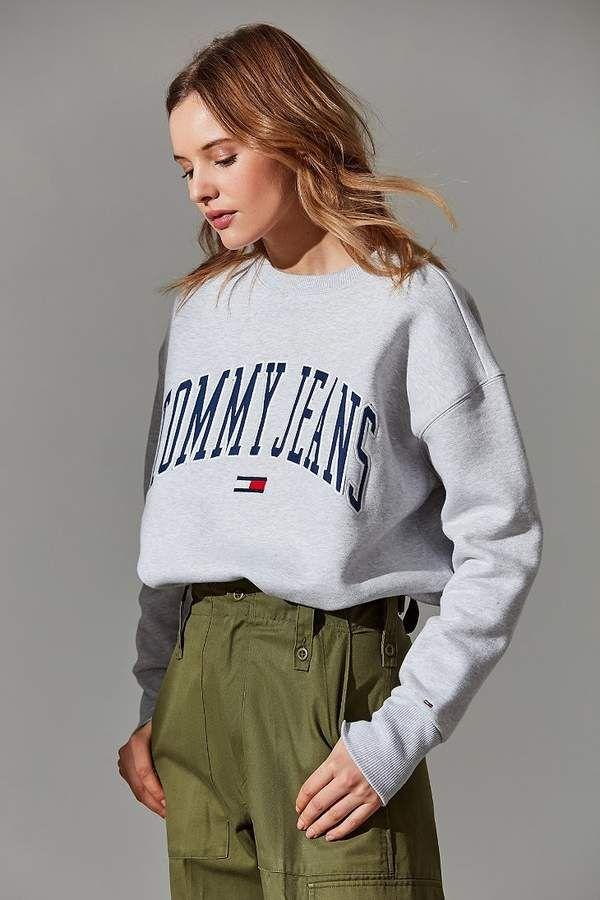 7710f844aa610 Tommy Jeans Collegiate Crew-Neck Sweatshirt