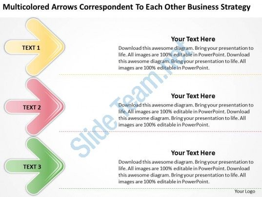 work flow business process diagram correspondent to each other strategy powerpoint slides Slide01