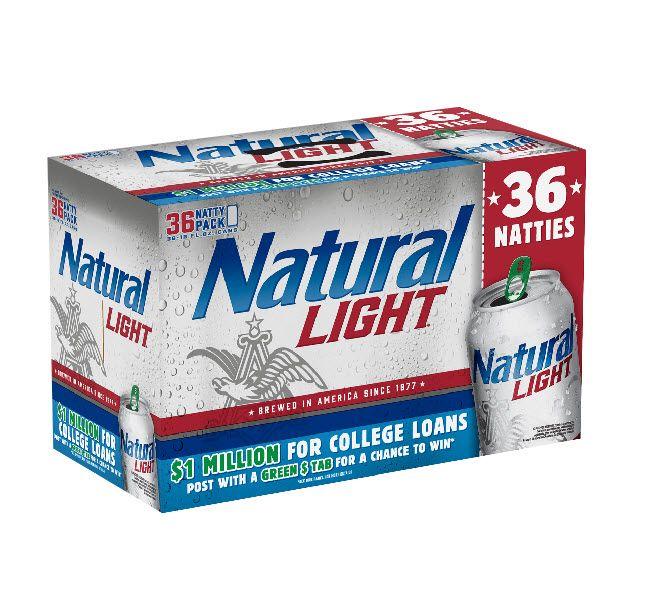 Natty Light 36 Pack Natty Light Light Brewing