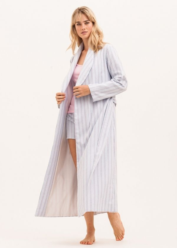 Candy Floss (Blue) Dressing Gown | PJ Pan | Luxury Ladies Dressing ...