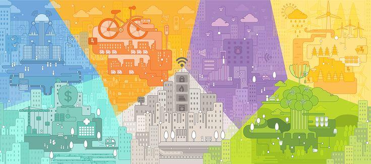 Project Efisio - Smart City Illustration on Behance