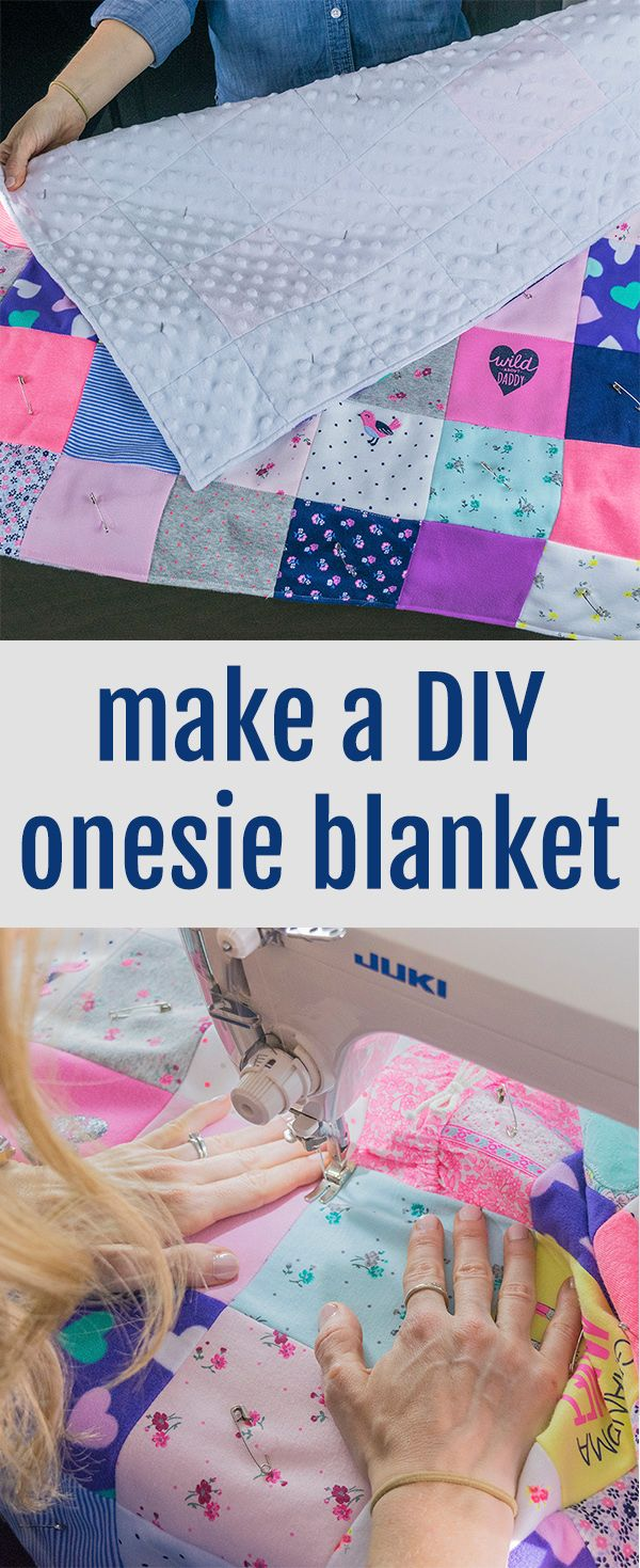 Cute DIY idea to use baby clothes in a onesie blanket! Perfect for a DIY baby quilt, going to have to do this someday! listalu.com