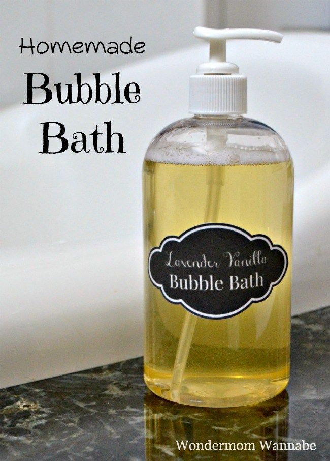 Natural Homemade Bubble Bath - Easy to make (just 3 ingredients!)
