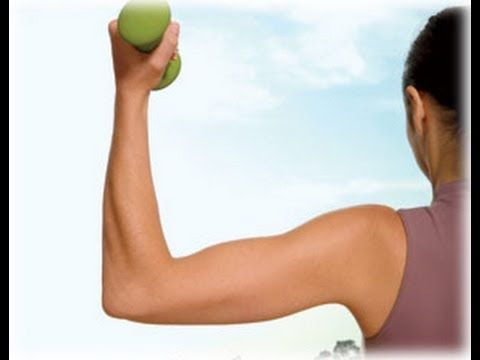 how to lose arm flab at home