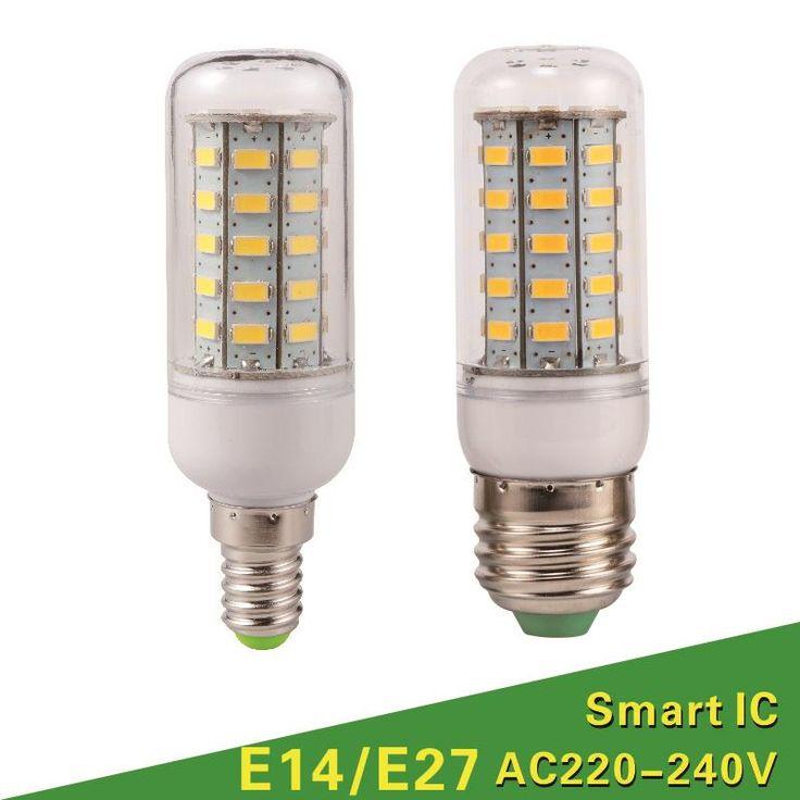 Lampada LED Bombilla E27 LLEVÓ La Lámpara 5730 SMD LED Luces de Bulbo Del Maíz 24 36 48 56 69 72 Led E14 Vela Araña de Iluminación Decoración Del Hogar