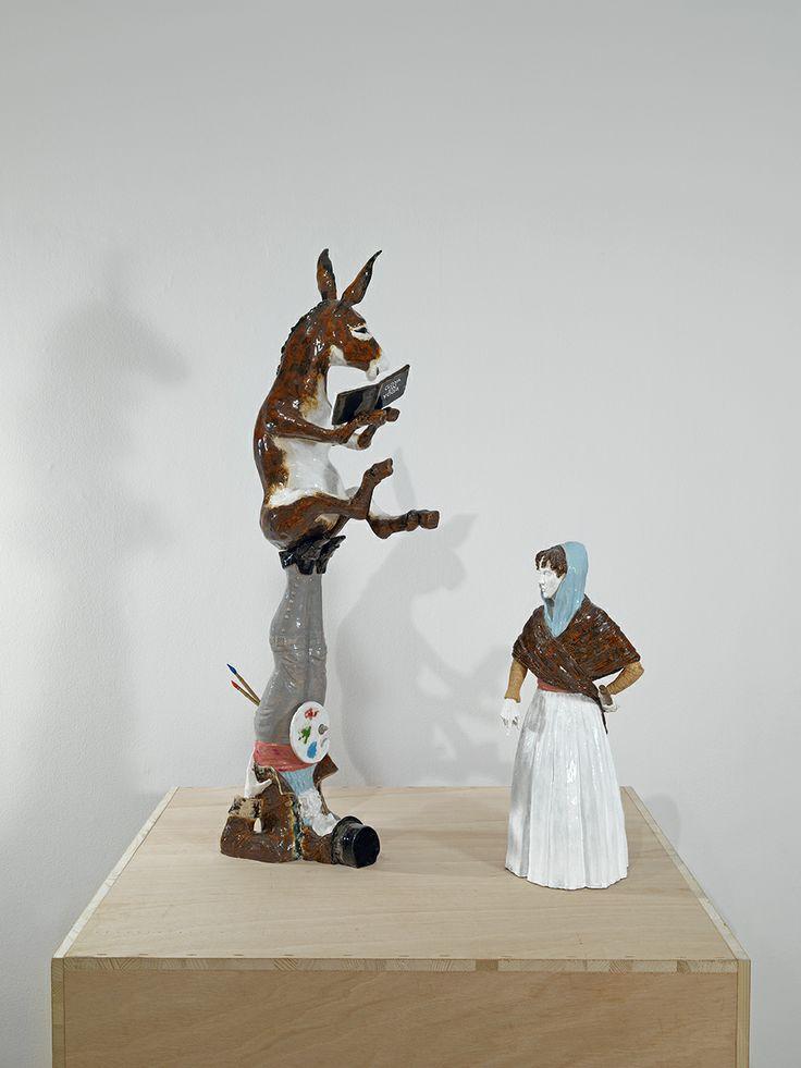 "Bernier/Eliades Gallery | Dionisis Kavallieratos | November 22, 2012 - January 17, 2013 | ""Goya on Yoga"", 2011 Ceramic, wood |93 x 70 x 60 cm | Photo by Boris Kirpotin"