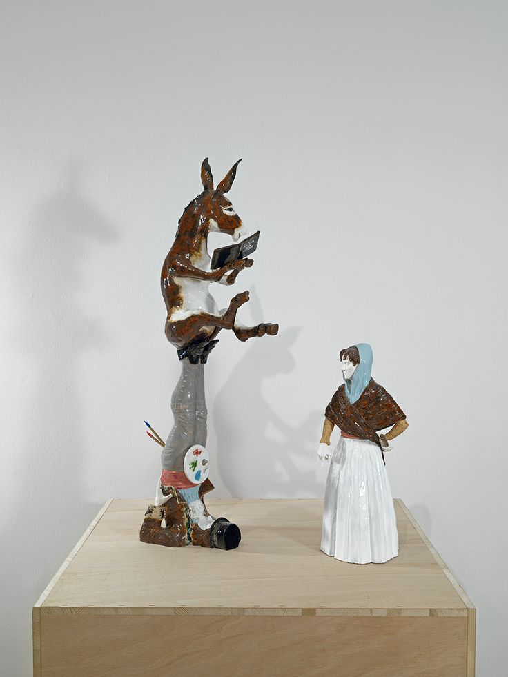 "Bernier/Eliades Gallery | Dionisis Kavallieratos | ""Goya on Yoga"", 2011 Ceramic, wood 