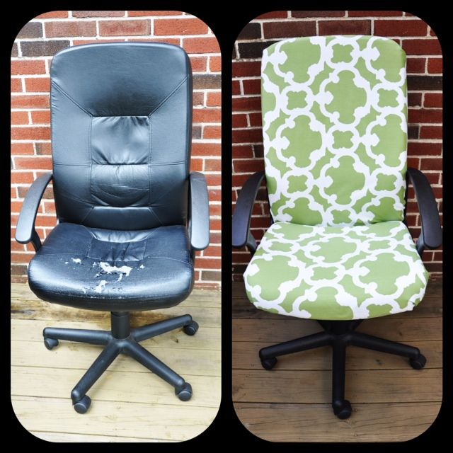 Thinking I Will Do Something Like This To My Old Computer Chair, To Match  The Rest Of My Wee Study Room.