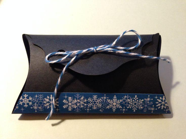 custom gift box / scrapbooking / big shot creations / baker's twine / washi tape / winter gift