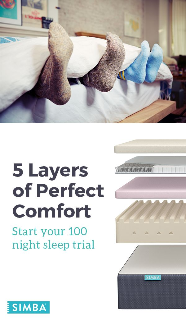Meet the 5 Ss that make Simba mattress the best in the world. 1) Simbatex for cool, gentle support, 2) Spring-Powered with 2,500 unique conical pocket springs, 3) Shaped for You with Visco memory foam, 4) Seventh Heaven engineered support base with 7 different zones, and 5) a Sleep Surface with a breathable hypoallergenic air flow. Start your 100 Night Trial at simbasleep.com.