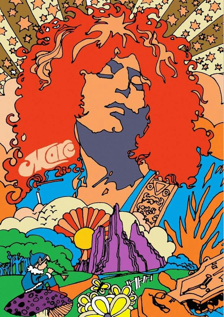 psychedelic poster early 70s