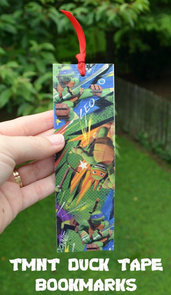 Teenage Mutant Ninja Turtle Duck Tape Bookmarks #TMNT