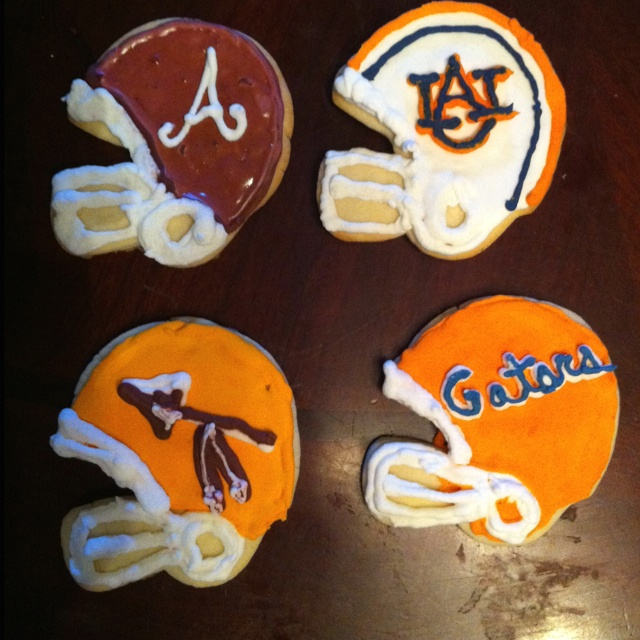 College Football Cookies. Make For The Teamsof Your Party