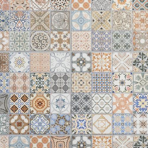 Provenzia Decorative Mix Pattern Porcelain Tile Floor Decor Porcelain Floor Tiles Porcelain Tile Patchwork Tiles