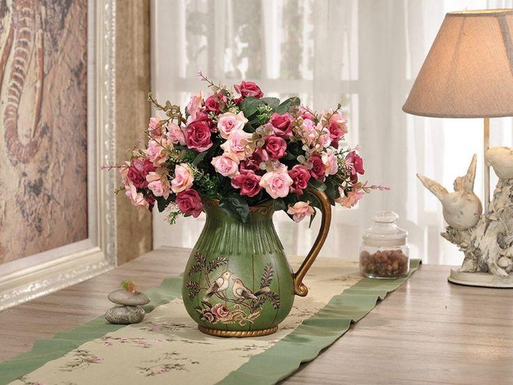 Green Love Birds Ceramic Vase and Canister Set – Samiksha's