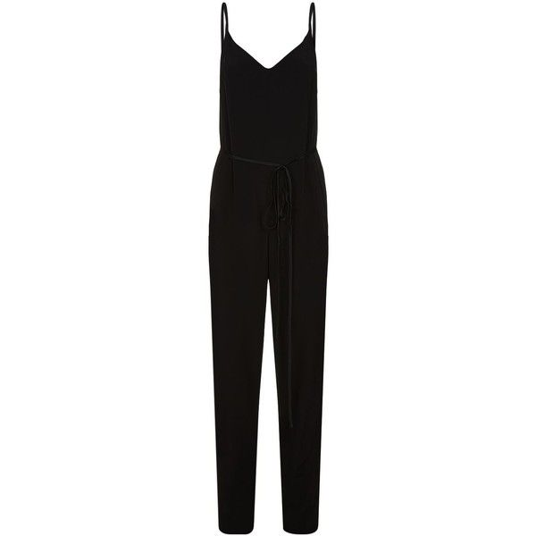 Rag & Bone Rosa Strappy Jumpsuit (€515) ❤ liked on Polyvore featuring jumpsuits, strappy jumpsuit, holiday jumpsuits, tie waist jumpsuit, cocktail jumpsuit and special occasion jumpsuits