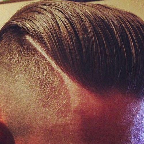 Hard Part Mens Hair