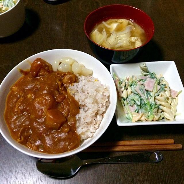 トマトカレーライス マカロニサラダ 大根と油揚げのお味噌汁 - 13件のもぐもぐ - 晩ごはん by junchiko