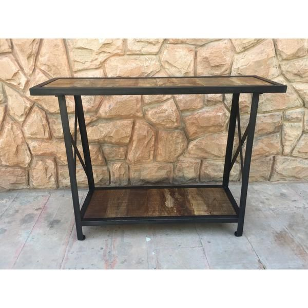 Sandstorm rustic Industrial console table - Rustic Furniture Outlet