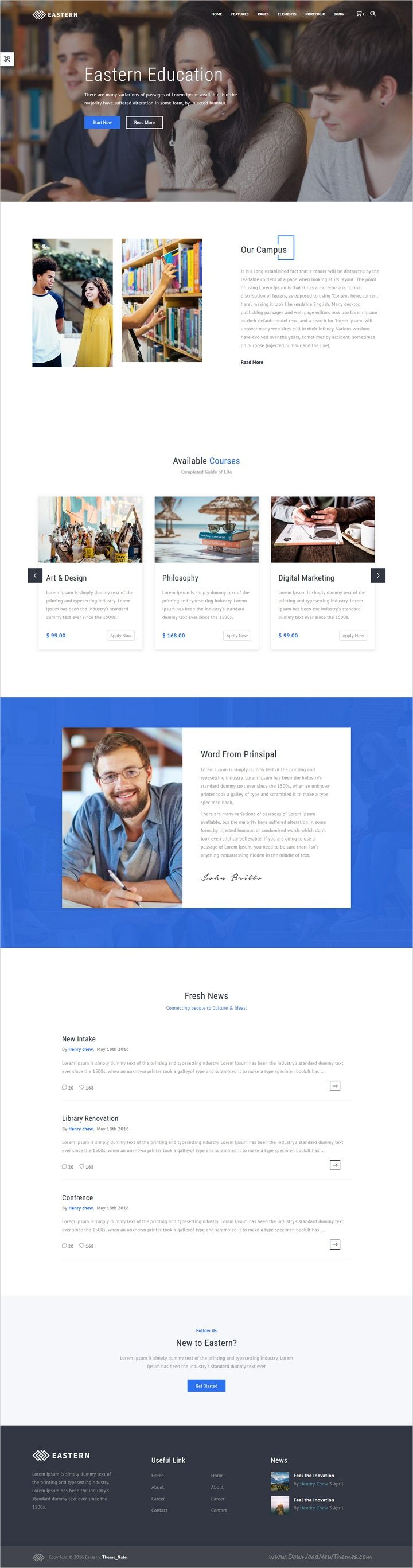 Eastern is a clean and modern responsive #HTML bootstrap template for #edtech #education stunning websites with 15+ multipurpose niche homepage layouts download now➩   https://themeforest.net/item/easterncreative-multipurpose-template/19282431?ref=Datasata