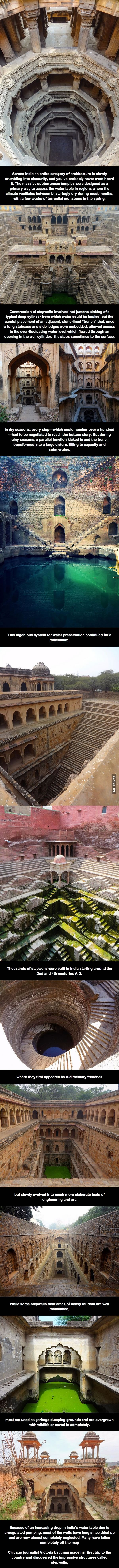 Journalist spends four years traveling India to document crumbling subterranean stepwells in India before they disappear