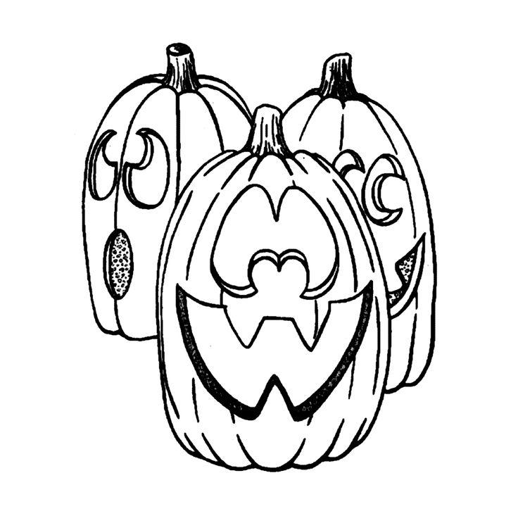 Leuk voor kids kleurplaat ~ Halloween pompoenen