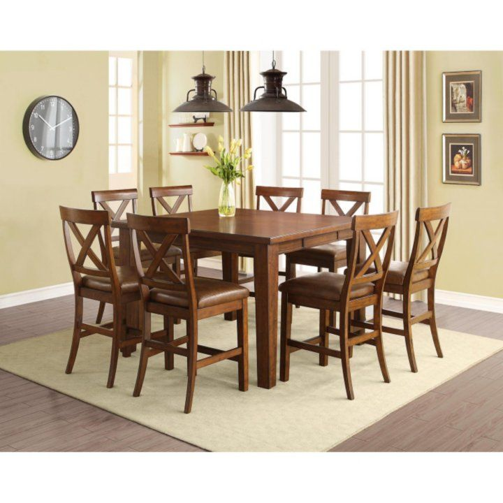 Sam's Club - Kayden Counter-Height Table and Chairs, 9-Piece Dining Set
