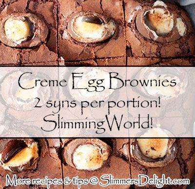 Creme Egg Brownies - 2 syns per portion! perfect easter treats – Slimming World – SlimmersDelight.com