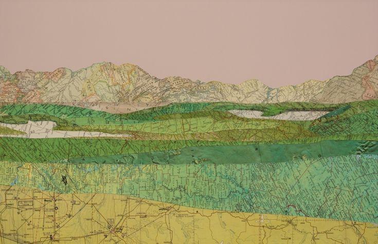 map collage landscape
