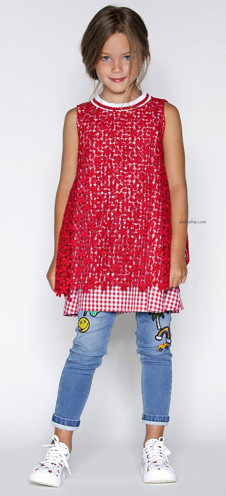 ALALOSHA: VOGUE ENFANTS: Must Have of the Day: Ermanno Scervino SS17 embroidered denim