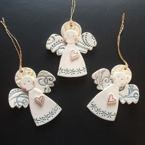 angel craft christmas creative christmas crafts ceramic angels - Angel Decorations