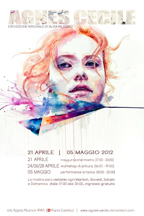 I love this artist. just discovered her recently. solo exhibition   silvia pelissero by agnes-cecile on deviantART
