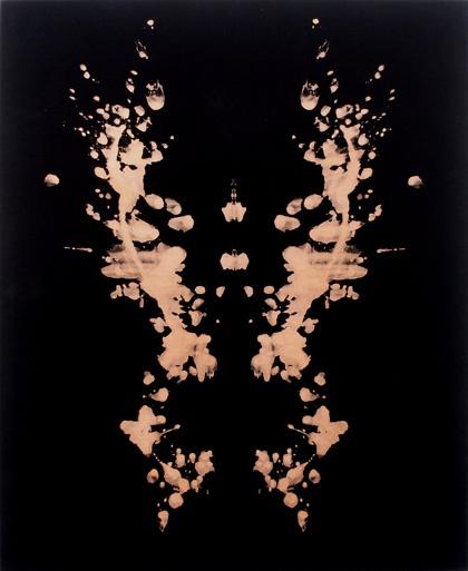 Anja Schwörer  Ohne Titel, 2005  Bleiche auf schwarzem Samt  160 x 130 cm