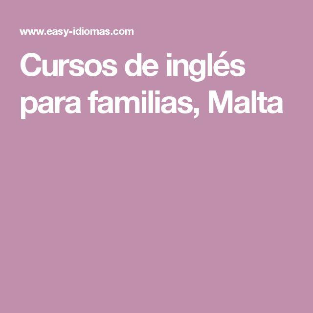 Cursos de inglés para familias, Malta