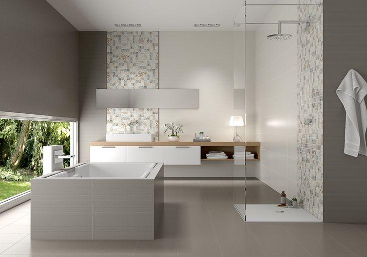 Juegos De Baño Interceramic:Gray and White Bathroom Tile Ideas