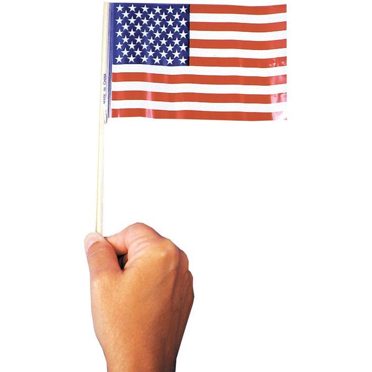 Flag Us Plastic 4in X6 In 72=1
