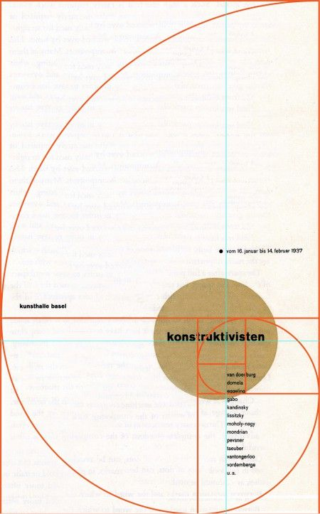 Golden ratio on cover by Jan Tscichold