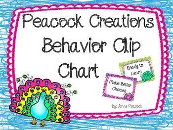 Behavior Clip Chart Peacock Theme $