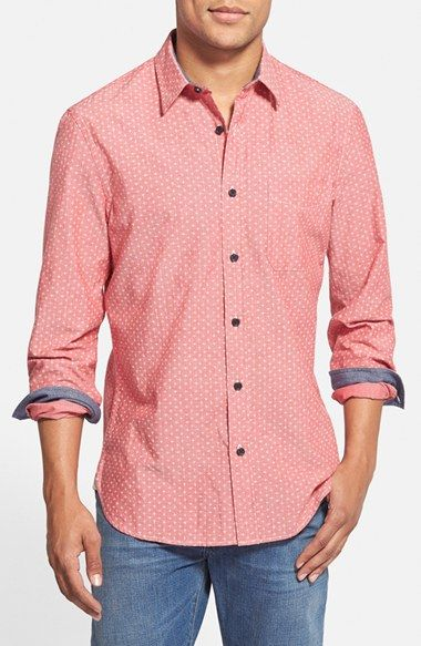 Wallin+&+Bros.+'Signature'+Trim+Fit+Print+Chambray+Sport+Shirt+available+at+#Nordstrom