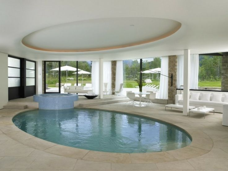 Like the idea of the ceiling mirror pool under... Make ceiling more interesting though. Modern Aspen Residence by Stonefox Design
