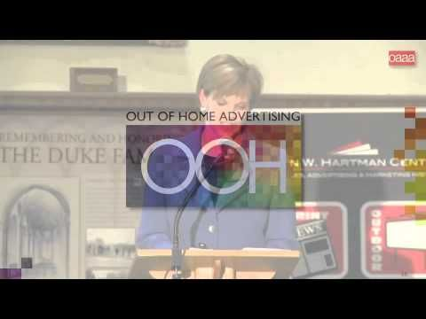 """The Past Is Prologue"" Featuring #OAAA's Nancy Fletcher at #Duke #University #OOH"