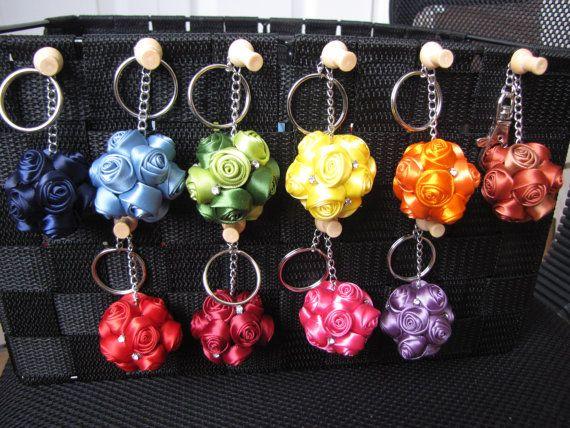 Roses ball keychain