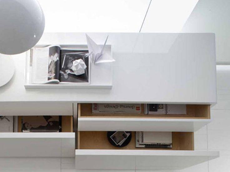 MDF sideboard CUBIC by ALIVAR | design Enrico Cesana